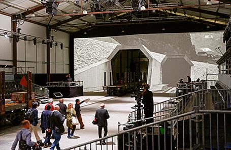 Перед церемонией открытия туннеля в Эрстфельде, Швейцария.