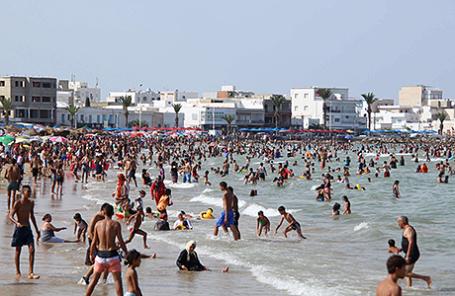 Пляж в Тунисе.