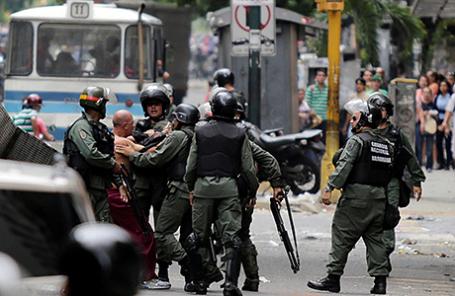 Протесты в Каракасе, Венесуэла, 2 июня 2016.