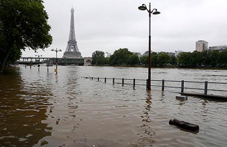 Наводнение в Париже, Франция, 3 июня 2016.