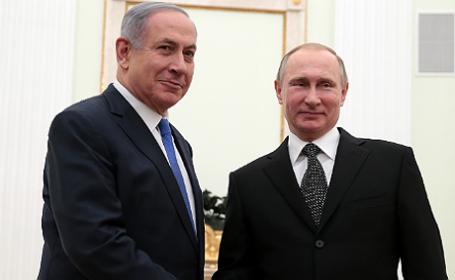 Президент России Владимир Путин и премьер-министр Израиля Биньямин Нетаньяху (слева направо).