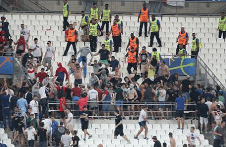 Беспорядки на трибунах после матча Евро - 2016: Англия - Россия