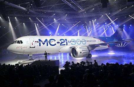 Церемония выкатки магистрального самолета МС-21-300 на авиационном заводе корпорации «Иркут».