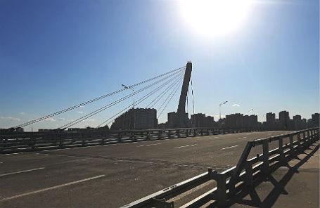 Мост через Дудергофский канал в Красносельском районе Санкт-Петербурга.