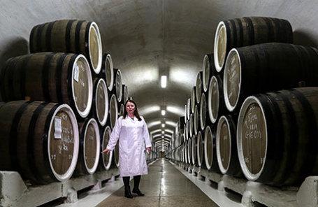 Винодельческий комбинат «Массандра» в Крыму.