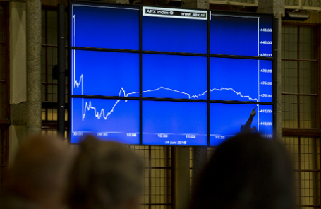 Ситуация на фондовой бирже Нидерландов после объявления итогов референдума в Великобритании.