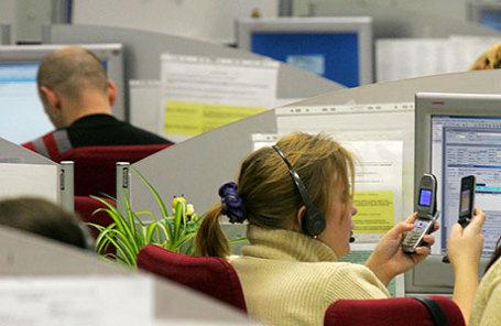 В офисе телекоммуникационной компании «ВымпелКом».