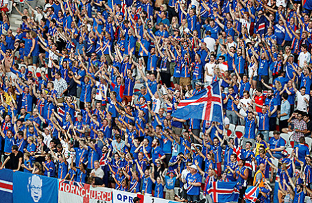 Исландские болельщики.
