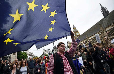 Митинг против выхода Великобритании из ЕС в Лондоне.