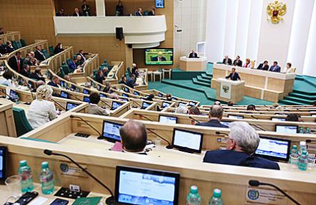 Пленарное заседание Совета Федерации РФ.