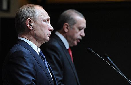 Эрдоган иПутин побеседовали потелефону впервый раз после инцидента сСу