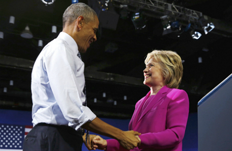 Барак Обама и Хиллари Клинтон.