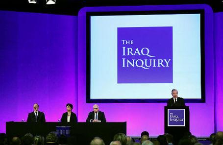 Презентация доклада об участии Лондона в военной кампании НАТО в Ираке.