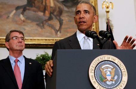 Эштон Картер и Барак Обама.