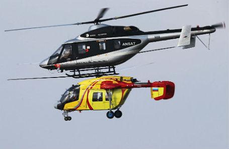Многоцелевой легкий вертолет «Ансат» (вверху) и вертолет Ка-226 (внизу).
