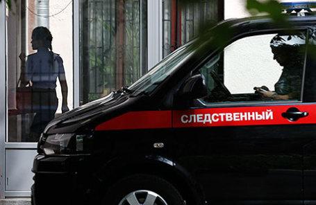 У здания Главного следственного управления СК РФ по Москве, где проходят обыски.