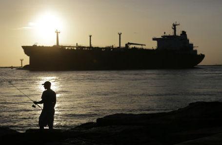 Газовый танкер в США.