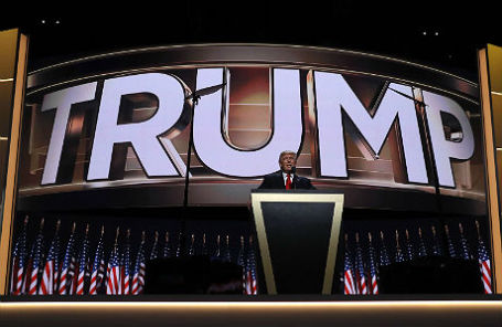 Речь кандидата в президенты США Дональда Трампа на финальной сессии национального съезда Республиканской партии в Кливленде.