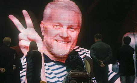 Церемония прощания с журналистом Павлом Шереметом.