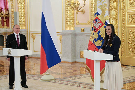 Президент РФ Владимир Путин встретился с российской олимпийской сборной.