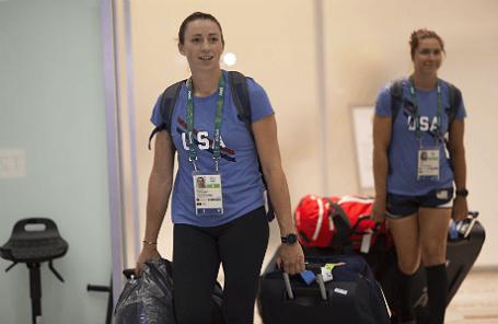 Прибытие спортсменов олимпийской сборной США в Рио-де-Жанейро