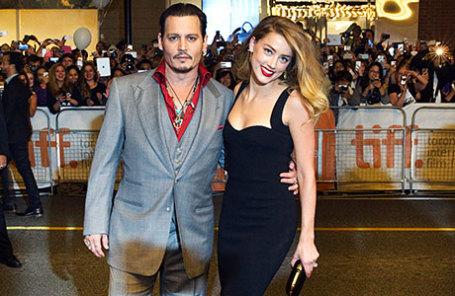 Актер Джонни Депп и его жена Эмбер.