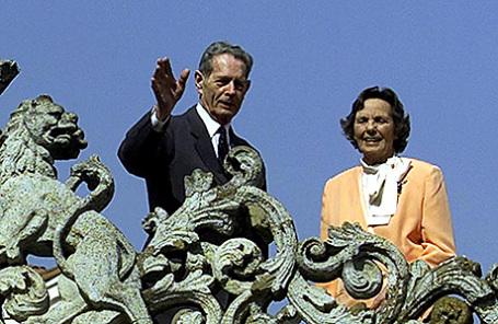 Королева Анна и король Михай.