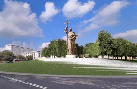 Финальный проект благоустройства Боровицкой площади и размещения памятника князю Владимиру.