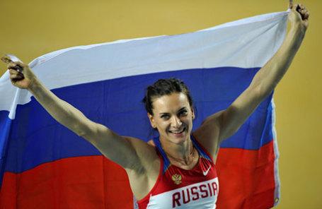 Олимпийская чемпионка в прыжках с шестом Елена Исинбаева.