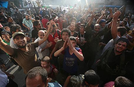 Повстанцы в Алеппо, Сирия, 6 августа 2016.