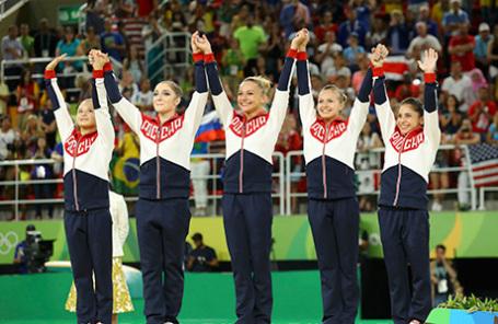 Сборная России по спортивной гимнастике на Олимпиаде в Рио-де-Жанейро.
