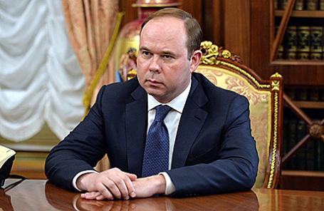 Антон Вайно, назначенный на должность главы администрации президента России, во время встречи с президентом РФ В.Путиным в Кремле, 12 августа 2016.