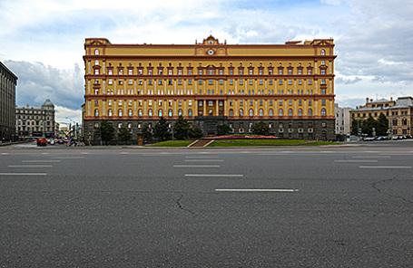 Здание ФСБ РФ на Лубянской площади в Москве.