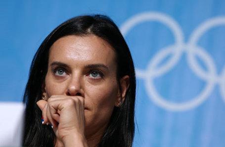 Двукратная олимпийская чемпионка по прыжкам с шестом Елена Исинбаева.
