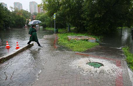 Всреду столицуРФ иобласть накроют дожди сгрозами