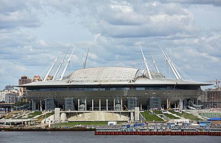 Строительство стадиона «Зенит Арена» в Санкт-Петербурге.