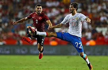 Товарищеский матч по футболу: Турция – Россия - 0:0.
