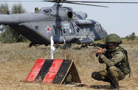 Тактико-специальные учения группировки войск Южного военного округа в Волгоградской области.