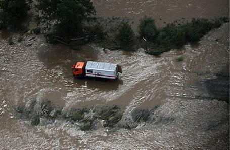 Затопленное село Уборка в Чугуевском районе.