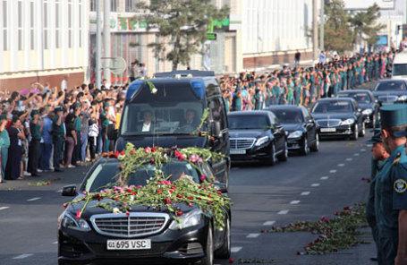 Церемония прощания с последним президентом Узбекистана Исламом Каримовым в Ташкенте.
