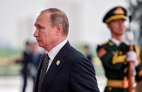Президент России Владимир Путин в Ханчжоу, Китай.