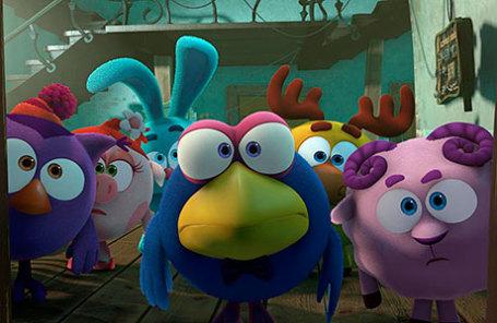 Кадр из полнометражного мультипликационного фильма в формате 3D «Смешарики».