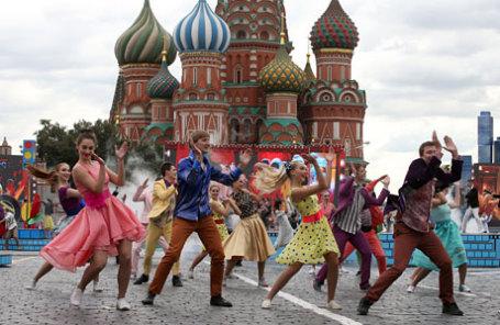 Церемония открытия Дня города на Красной площади.