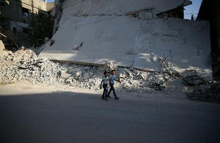 В пригороде Дамаска.