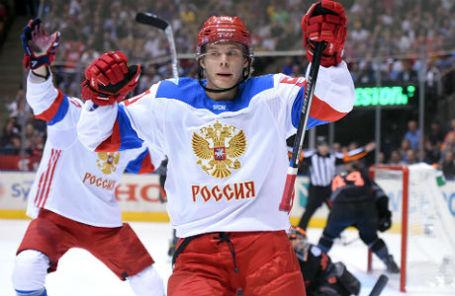 Владислав Наместников на матче против сборной Северной Америки.
