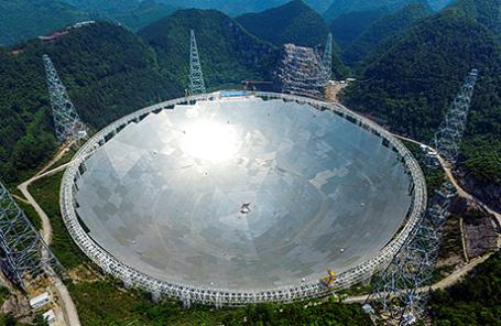 КНР запустил крупнейший вмире радиотелескоп