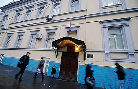 Здание Басманного районного суда на Каланчевской улице в Москве