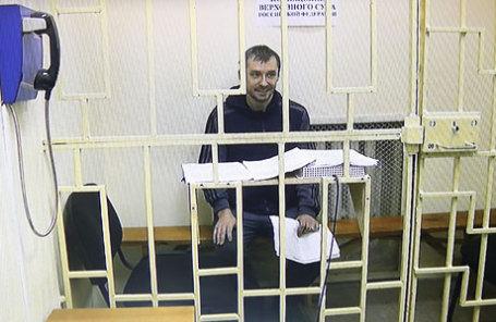 Во время рассмотрения вопроса о законности ареста врио начальника управления «Т» антикоррупционного главка МВД Дмитрия Захарченко, обвиняемого в получение взятки, злоупотреблении полномочиями.