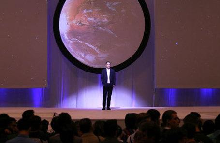 Генеральный директор SpaceX Илон Маск во время Международного конгресса по астронавтике в Гвадалахаре, Мексика.