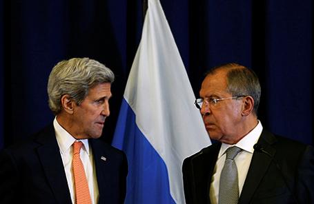 Госсекретарь США Джон Керри и министр иностранных дел России Сергей Лавров.